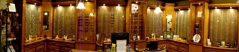 the optical gallery at Eyes & Optics of Pearland